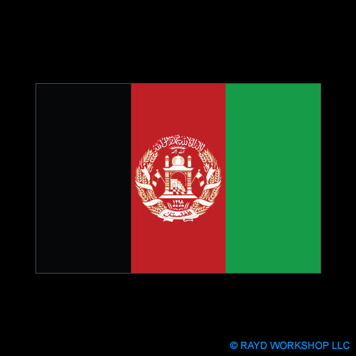 Afghanistan Flag Self Adhesive Sticker