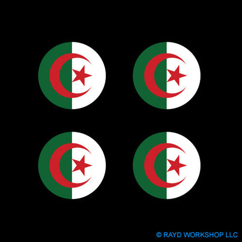 "1.5"" Algerian Air Force Roundel Self Adhesive Sticker"