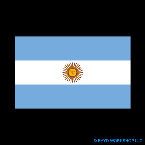 Argentine Flag Self Adhesive Sticker
