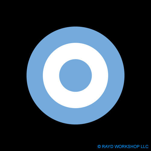 Argentine Air Force Roundel Self Adhesive Sticker