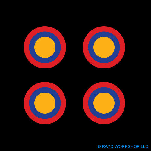 "1.5"" Armenian Air Force Roundel Self Adhesive Sticker"