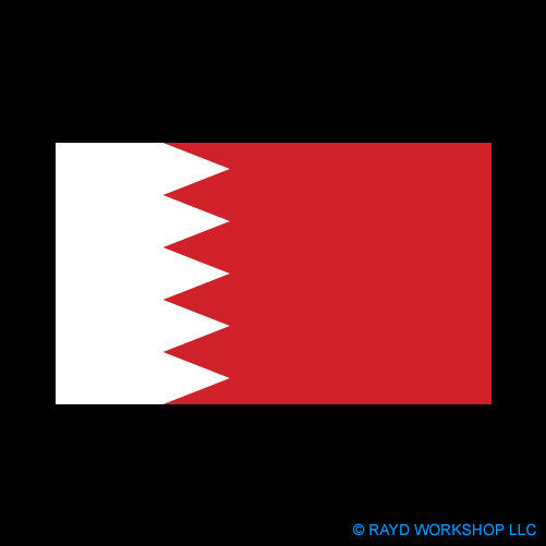 Bahraini Flag Self Adhesive Sticker