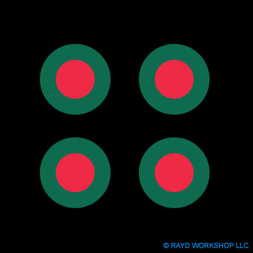 "1.5"" Bangladesh Air Force Roundel Self Adhesive Sticker"