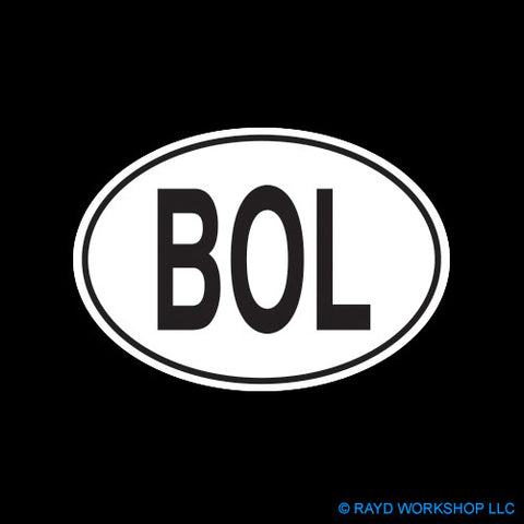Bolivian Oval Self Adhesive Sticker