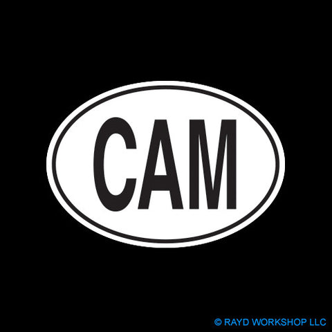 Cameroonian Oval Self Adhesive Sticker