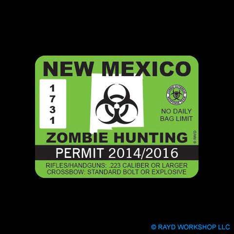 New Mexico Zombie Hunting Permit