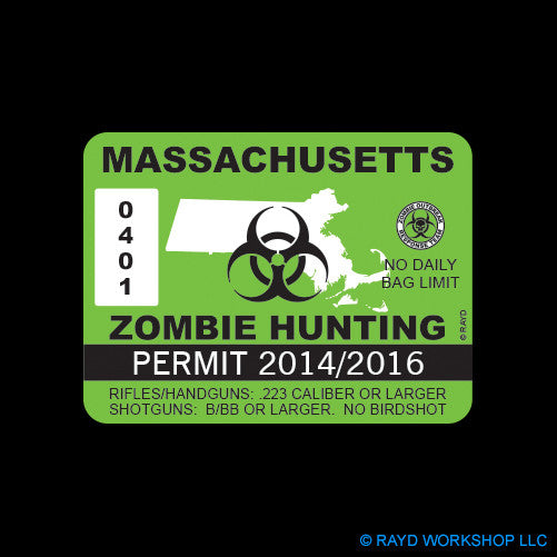 Massachusetts Zombie Hunting Permit