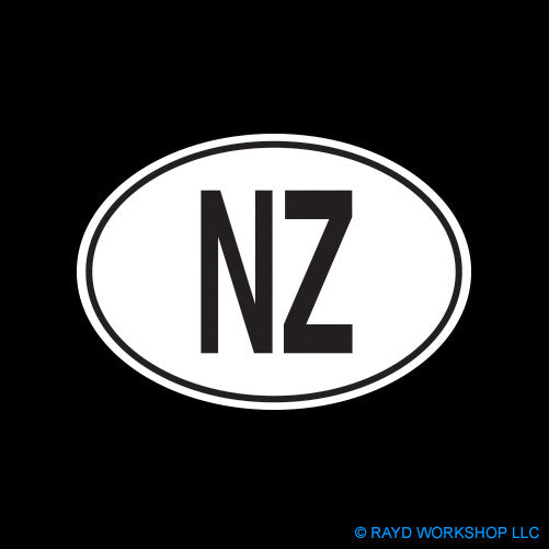 New Zealand Oval Self Adhesive Sticker
