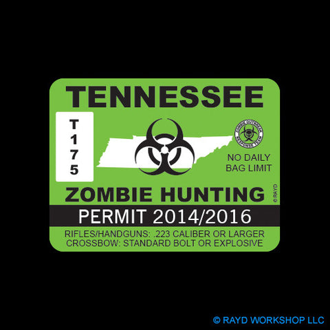 Tennessee Zombie Hunting Permit