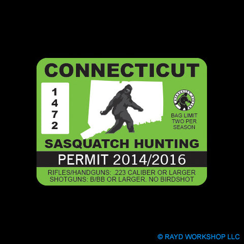 Connecticut Sasquatch Hunting Permit
