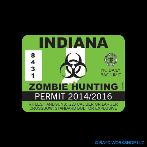 Indiana Zombie Hunting Permit