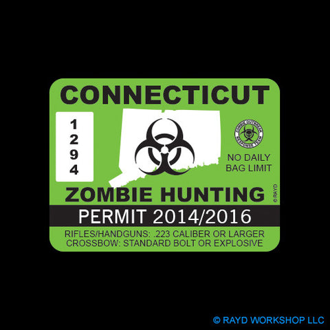 Connecticut Zombie Hunting Permit