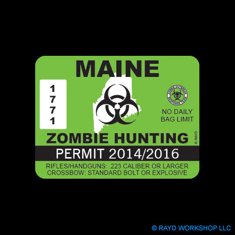 Maine Zombie Hunting Permit