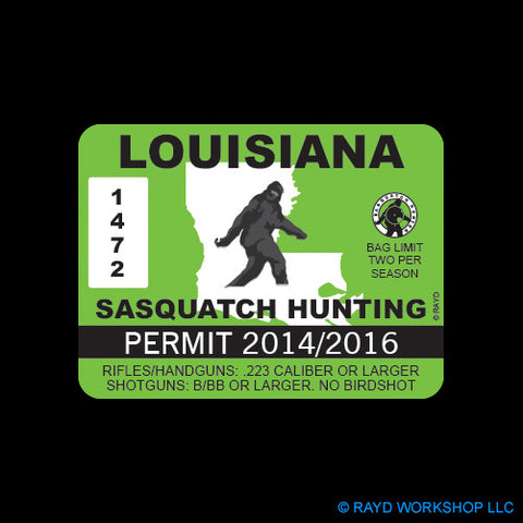 Louisiana Sasquatch Hunting Permit