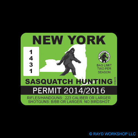 New York Sasquatch Hunting Permit