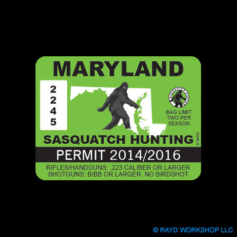 Maryland Sasquatch Hunting Permit
