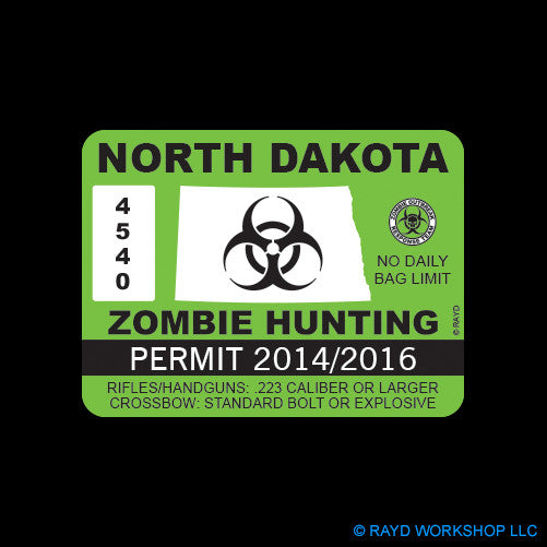 North Dakota Zombie Hunting Permit