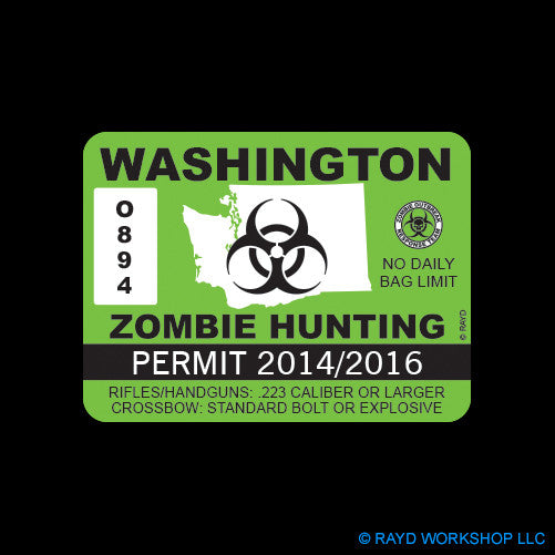 Washington Zombie Hunting Permit