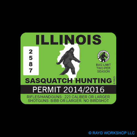 Illinois Sasquatch Hunting Permit