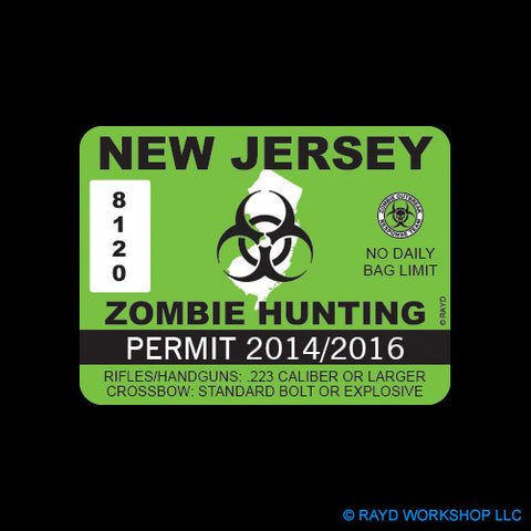 New Jersey Zombie Hunting Permit