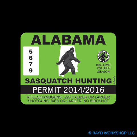 Alabama Sasquatch Hunting Permit