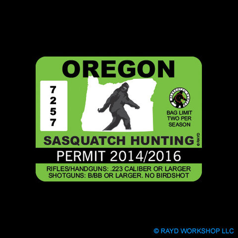 Oregon Sasquatch Hunting Permit