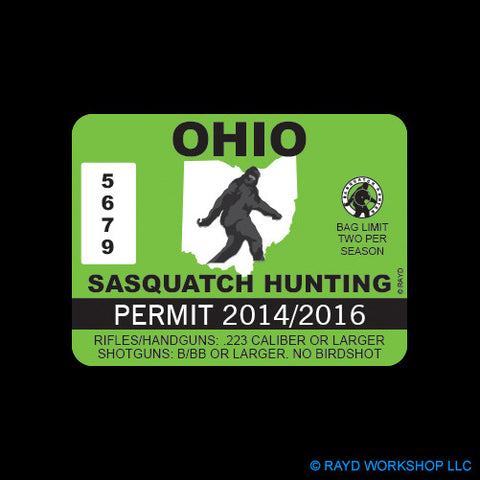 Ohio Sasquatch Hunting Permit