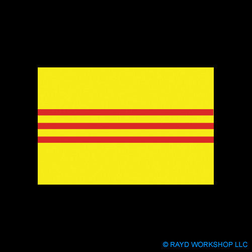"4"" South Vietnam Flag"