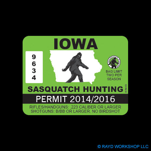 Iowa Sasquatch Hunting Permit