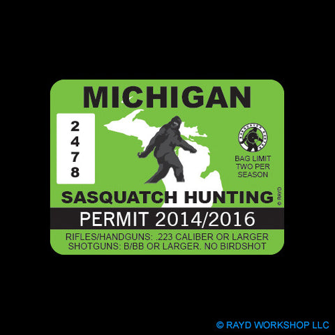 Michigan Sasquatch Hunting Permit