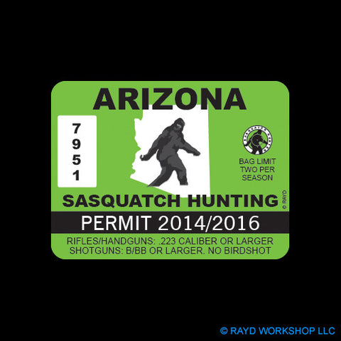 Arizona Sasquatch Hunting Permit