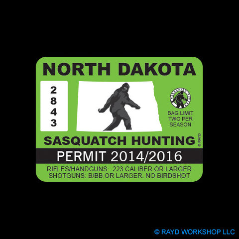 North Dakota Sasquatch Hunting Permit