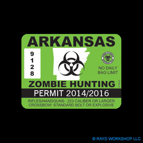 Arkansas Zombie Hunting Permit