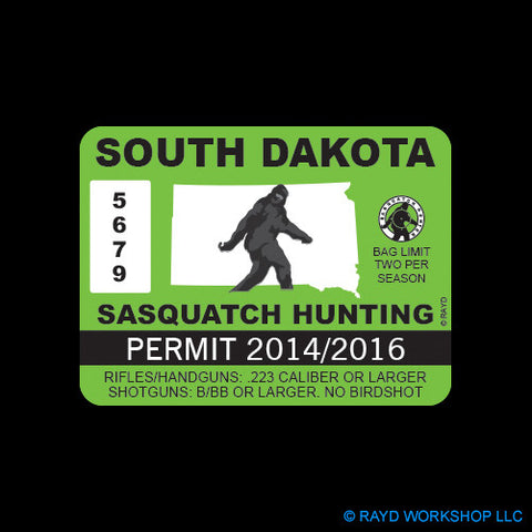 South Dakota Sasquatch Hunting Permit