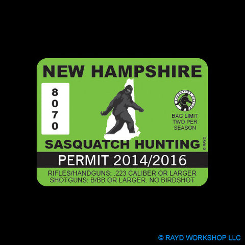 New Hampshire Sasquatch Hunting Permit