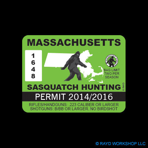 Massachusetts Sasquatch Hunting Permit