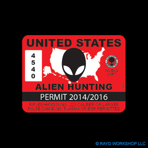 United States Alien Hunting Permit
