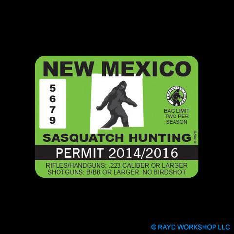 New Mexico Sasquatch Hunting Permit