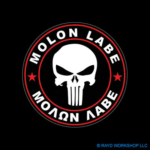 Red Circle Molon Labe