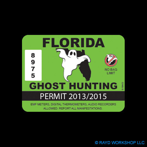 Florida Ghost Hunting Permit