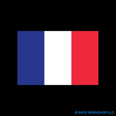 4 Inch French Flag
