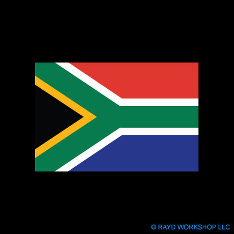 4 Inch South African Flag