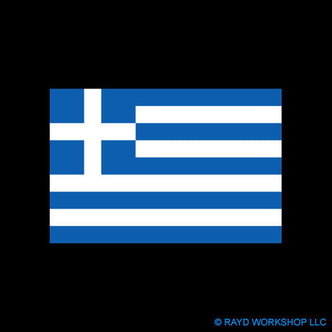4 Inch Greek Flag