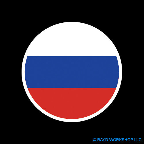 Round Russian Flag