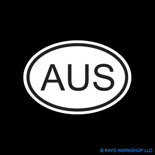 AUS Australia Country Code Oval