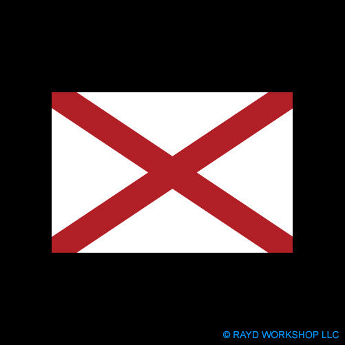4 Inch Alabama Flag