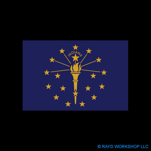4 Inch Indiana Flag