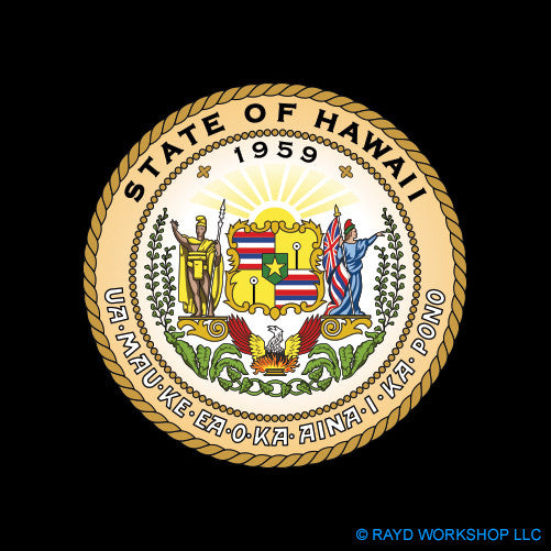 4 Inch Hawaii State Seal