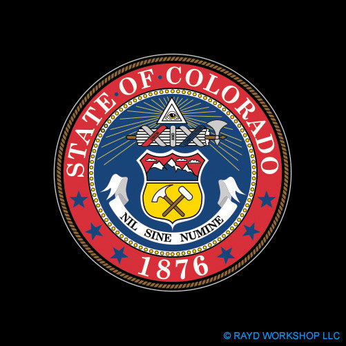 4 Inch Colorado State Seal