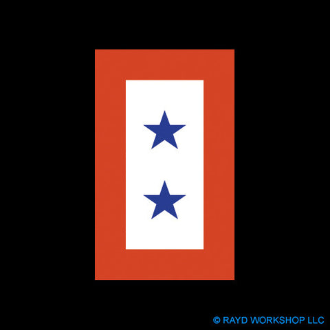 "4"" Two Blue Stars Service Flag"